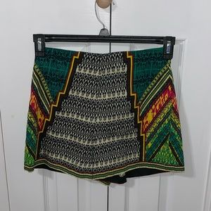 Multicolored High-waisted Shorts
